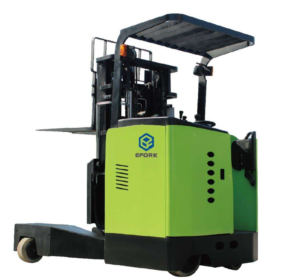 Narrow Channel Machine Electric 4-Way Reach Truck Forklift 2000 kg Capacity