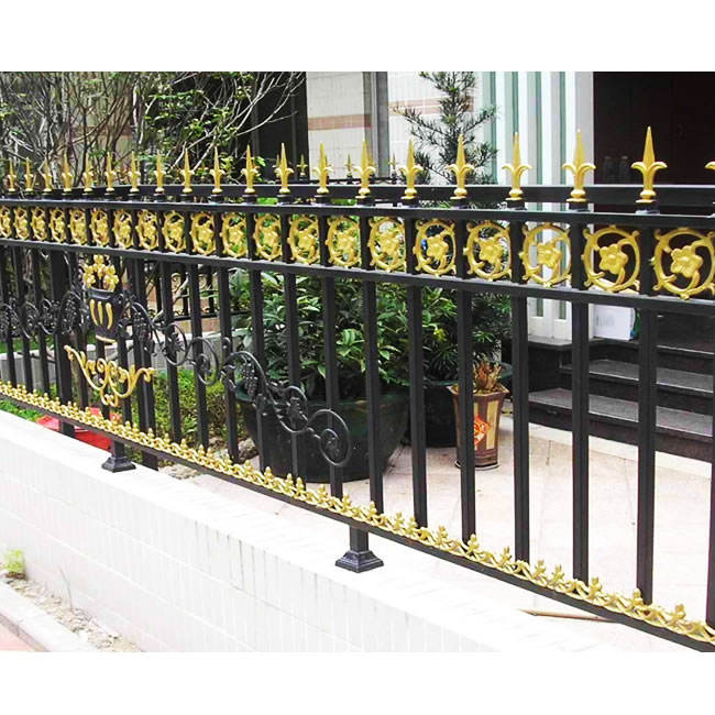 high-quality Cheap Wrought Iron Fence Panels for Sale Galvanized Steel Fence Ornamental Fence