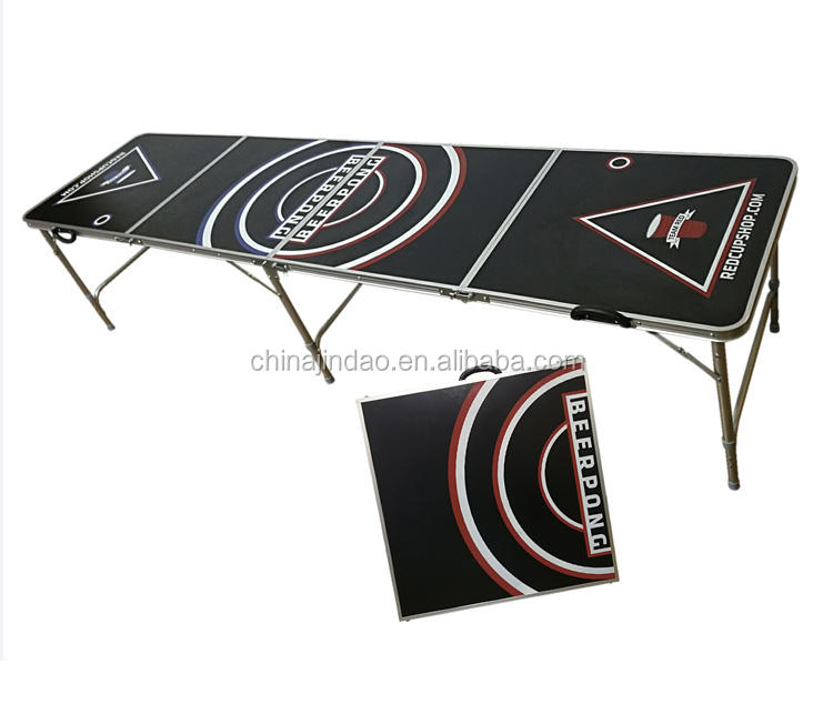 college parties and games quad folds 8ft custom beerpong table