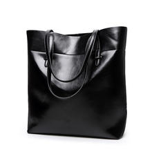 Fashion large leather tote bag women's handbag oil wax PU leather new diaper crossbody bag