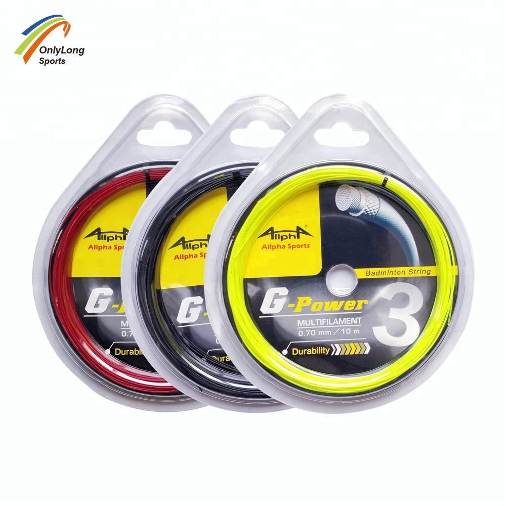 Gauge 0.70mm Nylon polymerization badminton racquet string for powet
