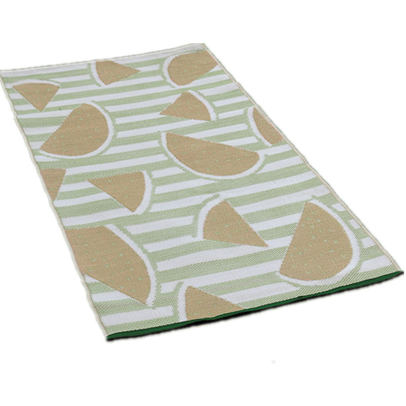 recycled pp jacquard beach mat outdoor small size 90x180cm picnic