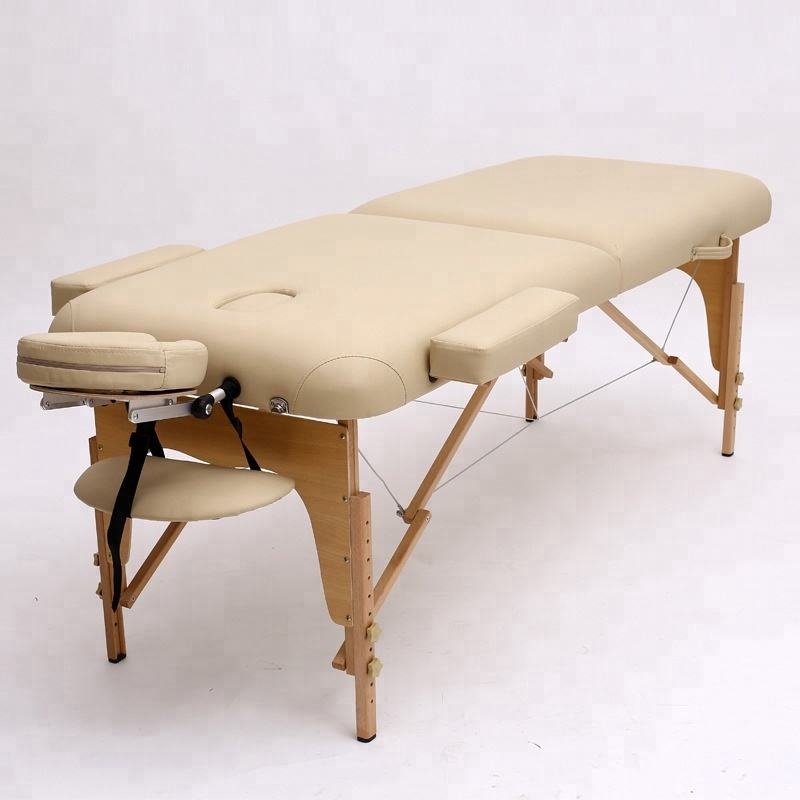 New design adjustable beauty beds wooden massage table for sale