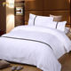 100% Cotton Queen Size Jacquard Weave Bed Sheet for Luxury Hotel