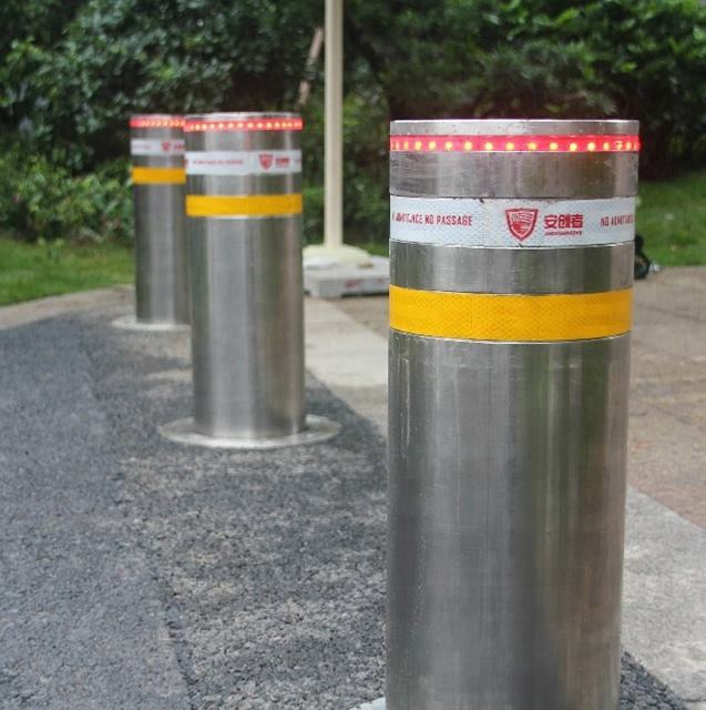 stainless steel retractable traffic road safety automatic hydraulic rising bollard