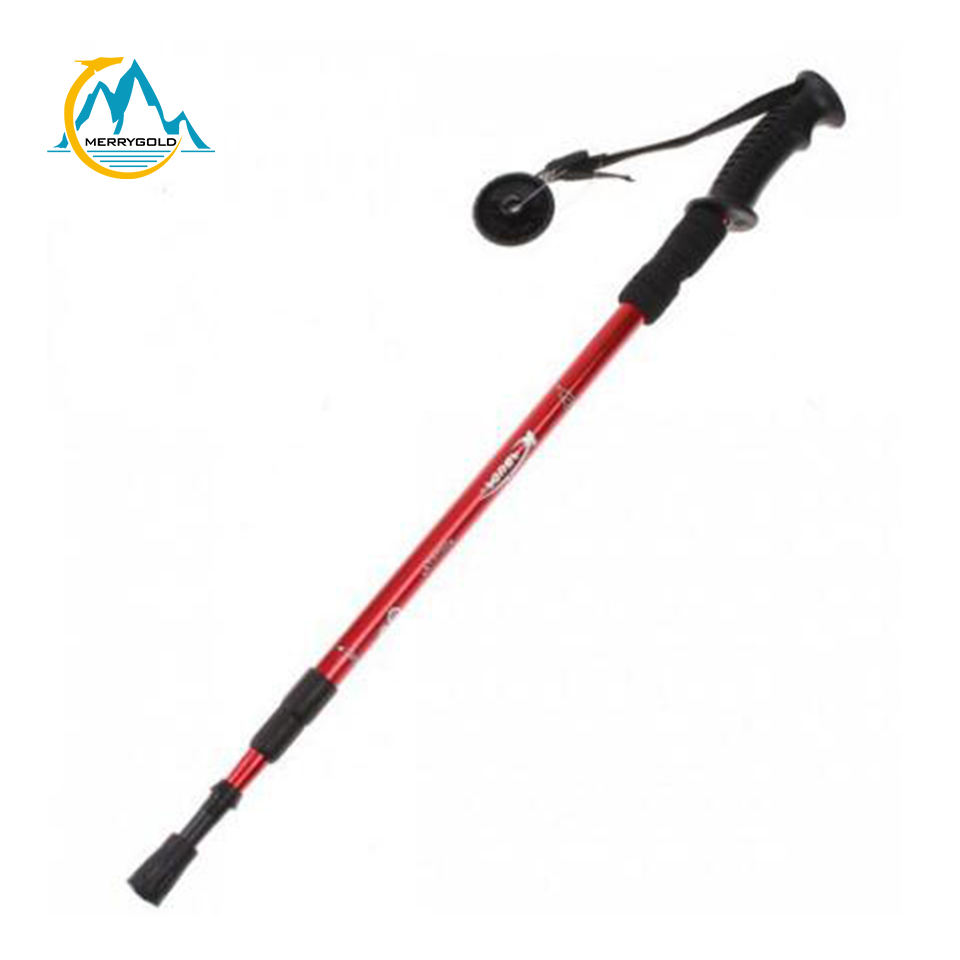 Promotional Ultralight Mountaineering Adjustable Stick Outdoor Trekking Pole Hiking Stick