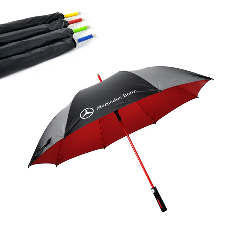 China Factory Custom New Model UV Long Shaft Giant Big Large Windproof Rain Gift Golf Umbrella With Logo Printing For Promotion