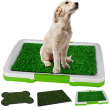 Pet Dog Cat Litter Toilet Mat Training Indoor Plastic Tray Grass Training System Box For Dogs