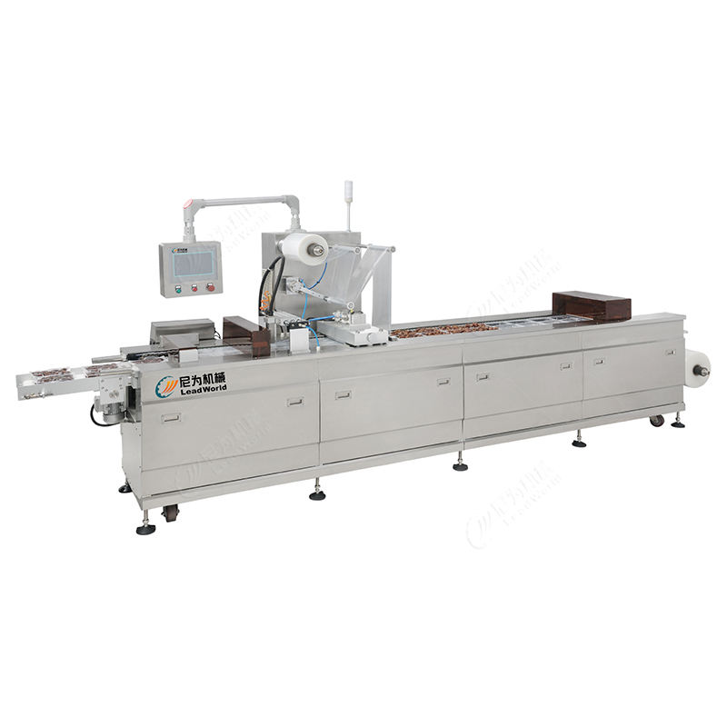 Automatic thermoforming fresh fruit vegetable seafood shrimp tofu rice water vacuum packing machine