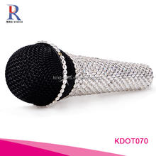Diamond Handcraft Crystal Top Quality Microphone