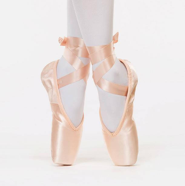 7000054 Girls Adult Ballet Dance Shoes Shiny Satin Pink Ballet Pointe Shoes For Women