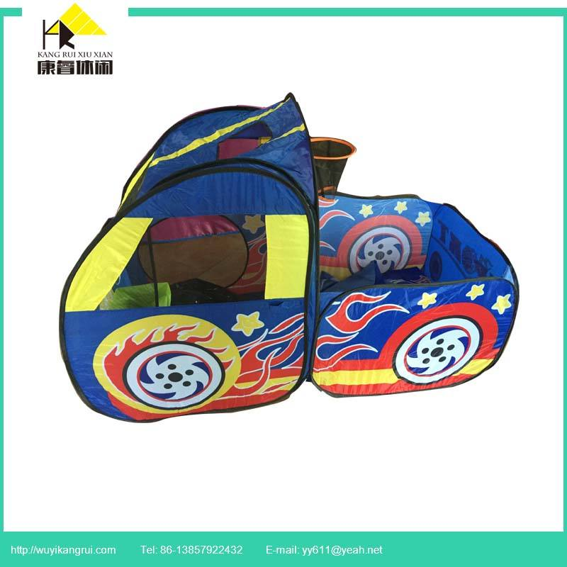 Car shape kids play foldable tent