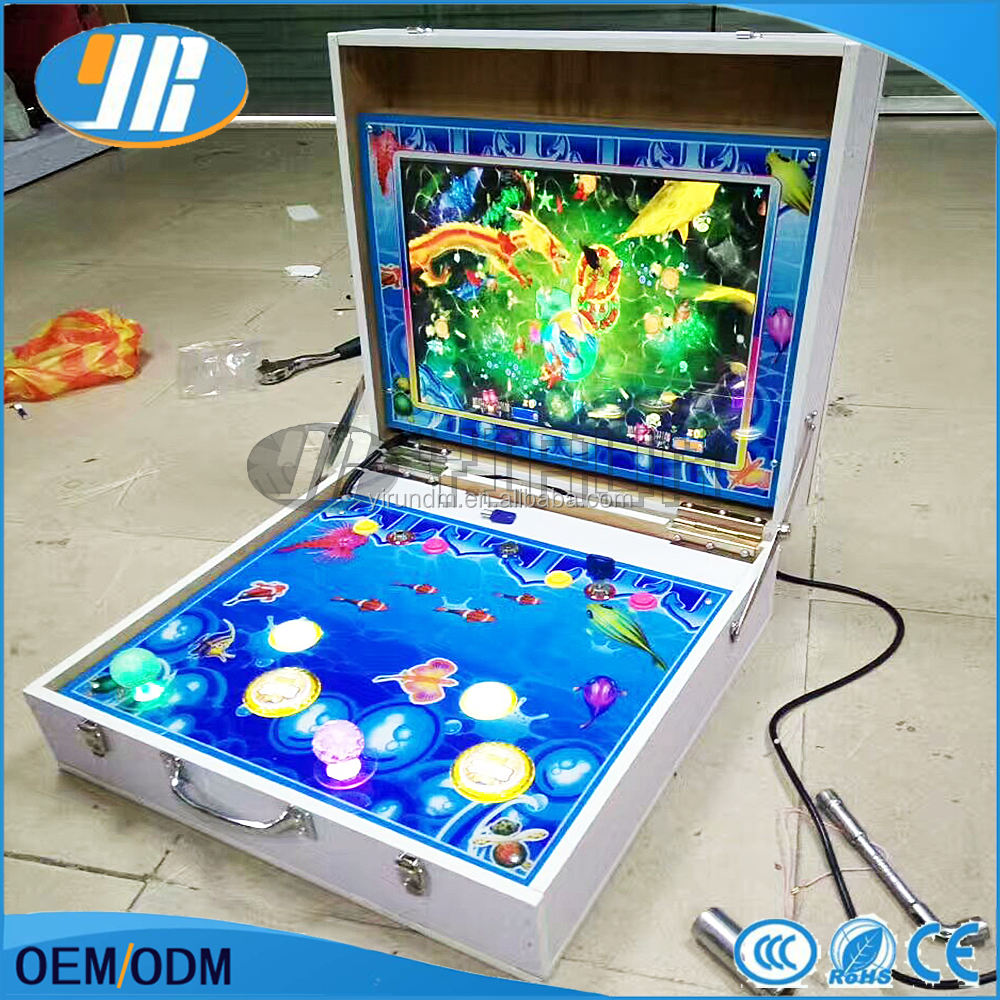 2 player Mini arcade fishing game machine mario slot game Portable game machine
