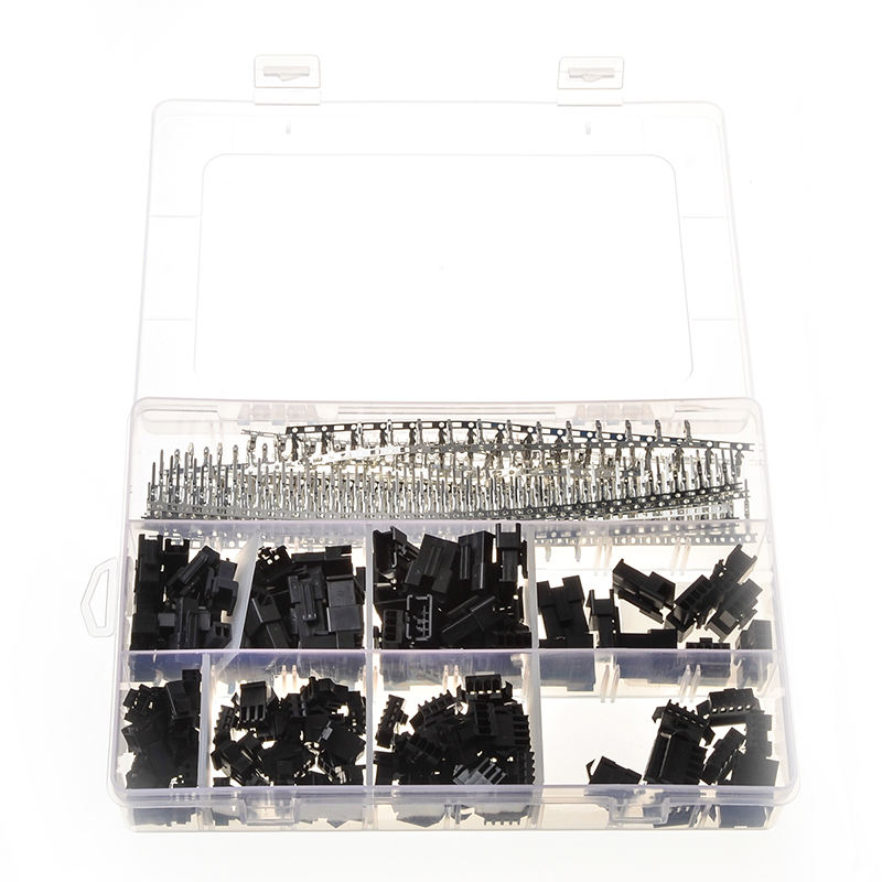 520 Pcs Wire Connectors Jumper Pin Housing Header Crimp With Hook Kit 40 Sets Male Female XHPX 2/3/4/5J 2.54MM Dupont Terminals