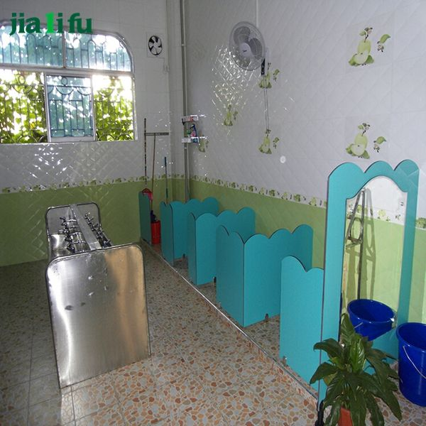 Jialifu waterproof compact hpl urinal screen for kindergarten