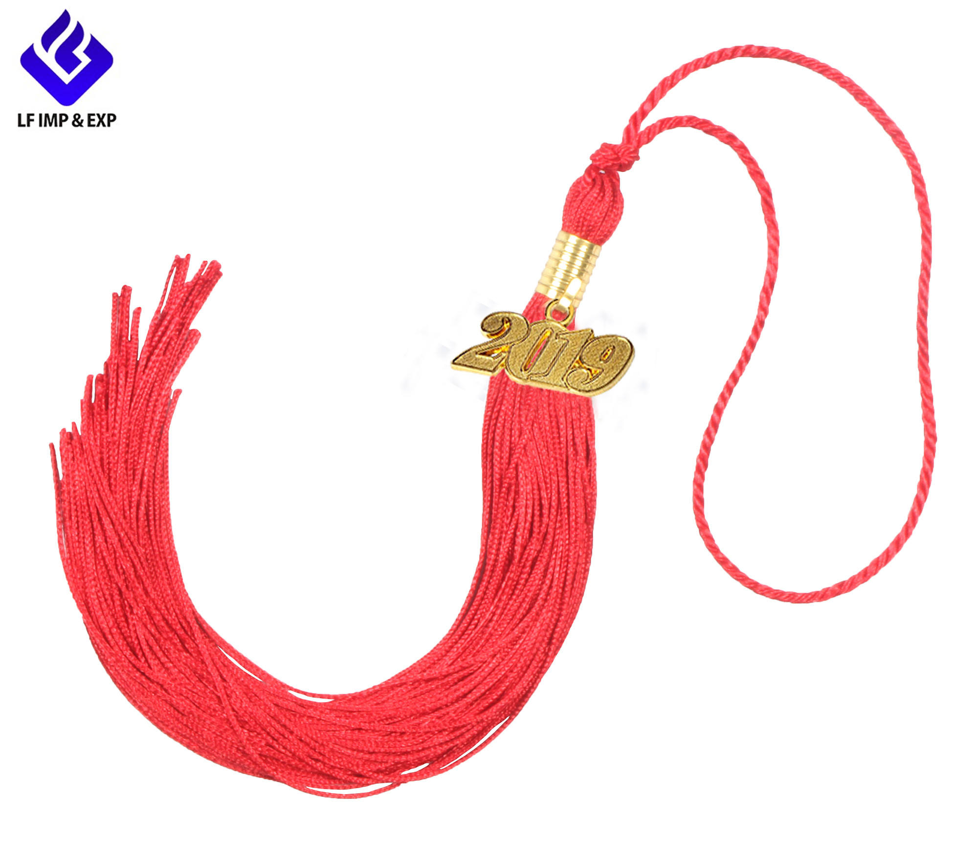 Red Adeeing Cord Honor Beautiful Design 100% Polyester Graduation Tassel