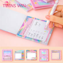 Creative stationery paper sticky note in memo pad
