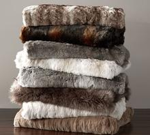 High Quality 100% polyester Warm Large Fur Throw Blankets Soft Faux Fur Blanket