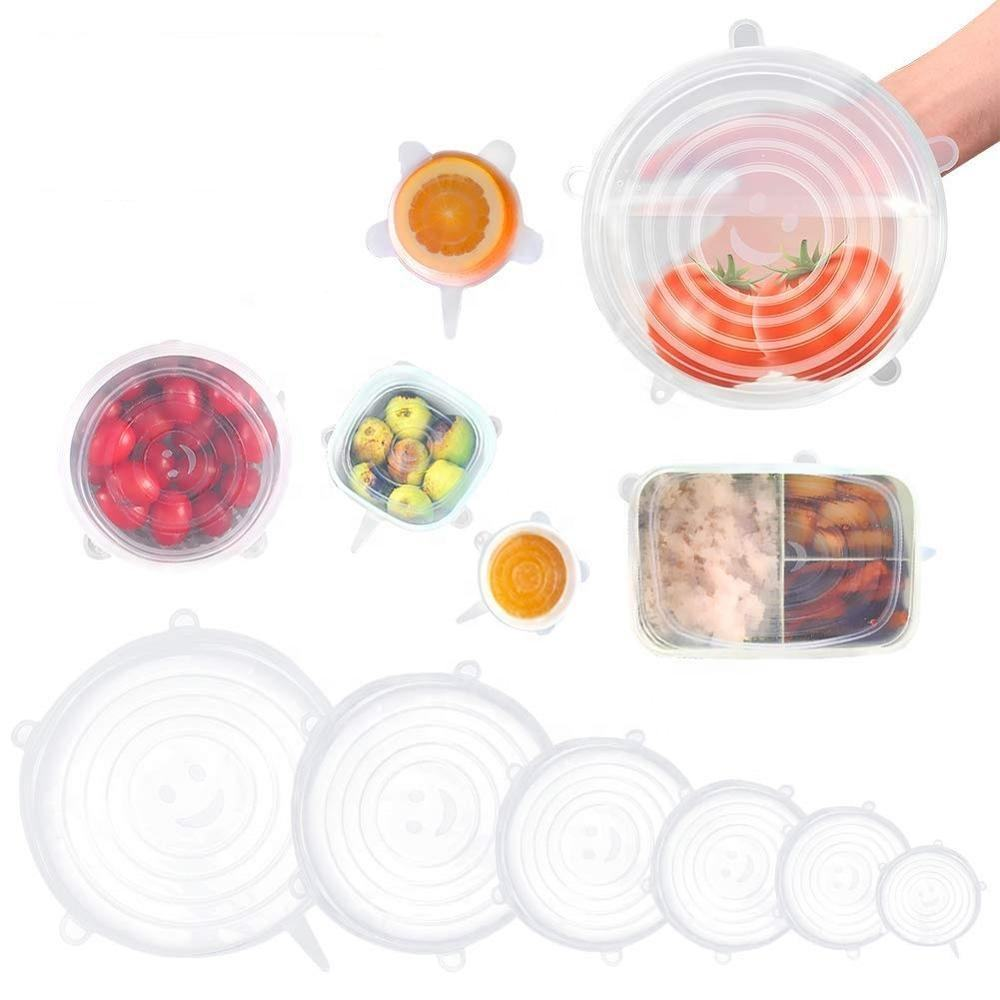 BPA Free Silicone Food and Fruit Hugger Silicone Stretch Lids Reusable Food Sealed Covers Lid