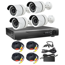 H.265 4MP POE NVR Kits 4CH Home Video Surveillance Cameras System p2p ipc ip camera with face detection