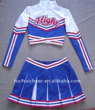 cheerleader uniforms: customise long sleeve top and skirts