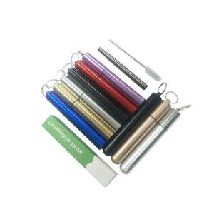 Eco-Friendly Reusable Portable Stainless Steel Foldable Folding Drinking Straw