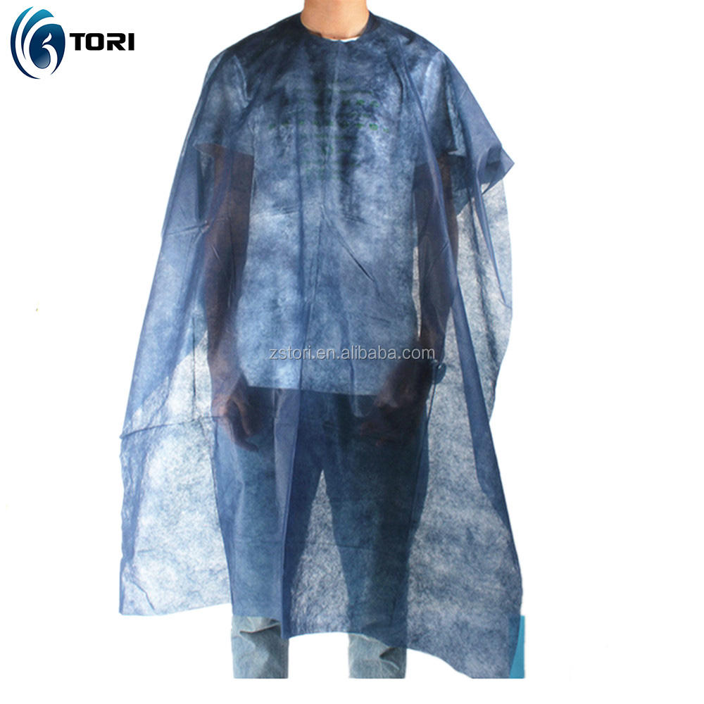 Disposable Non woven Fabric Hair Cutting Capes For Salon Hairdressing Use