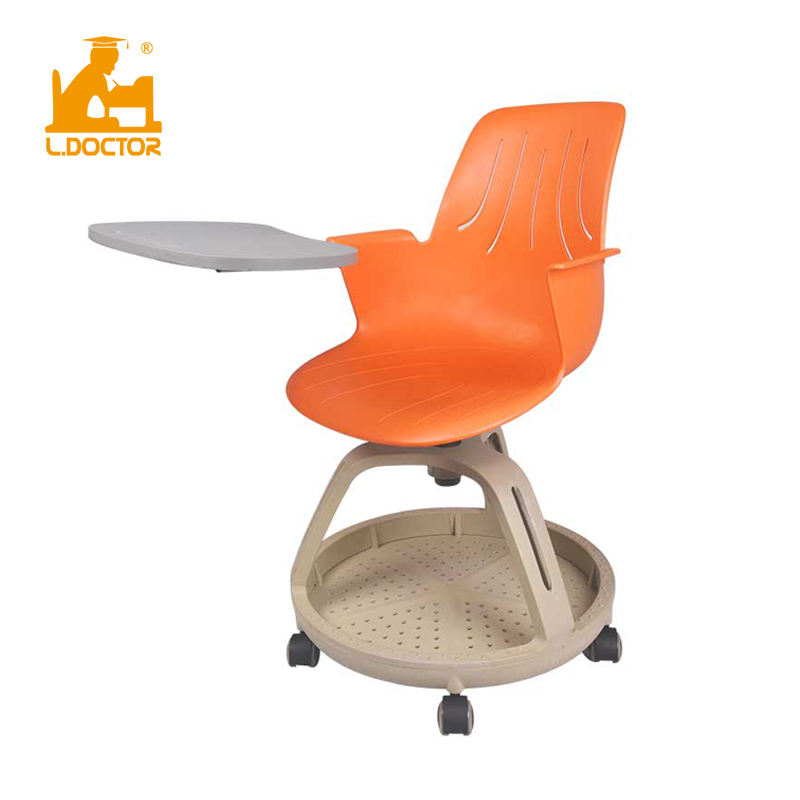 Wheels pp college student school writing training chair with tablet