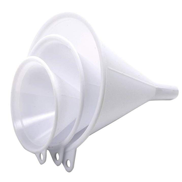 large plastic funnel/long plastic funnel