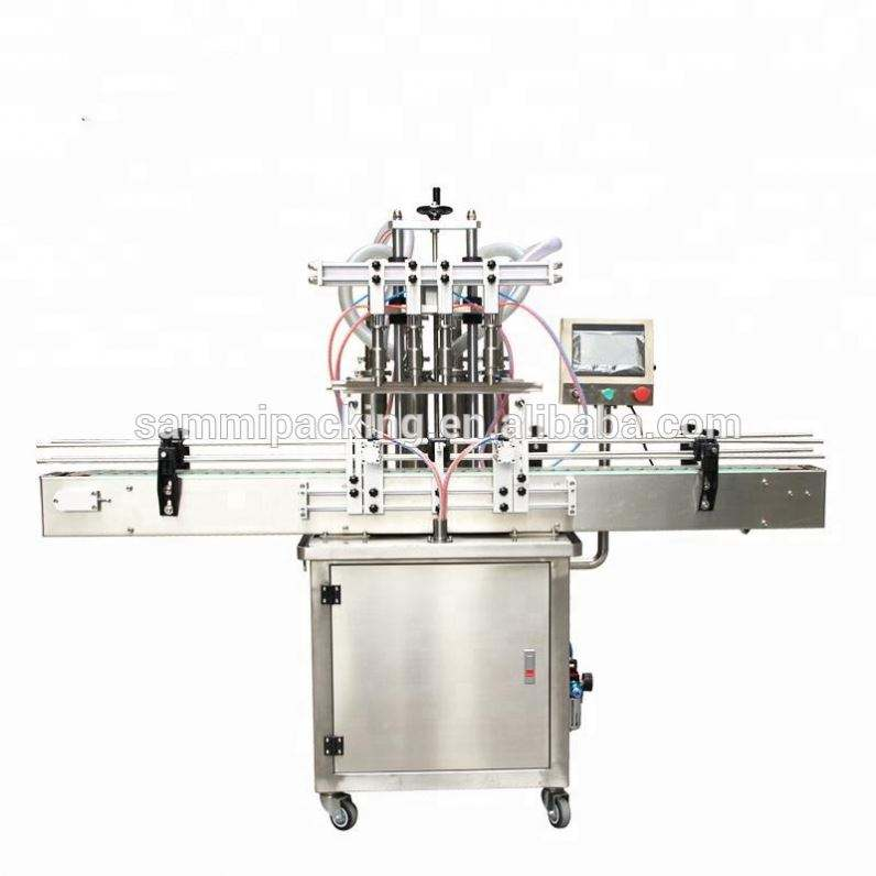 4 Heads Automatic Cosmetic Liquid Filling Machine with Capper