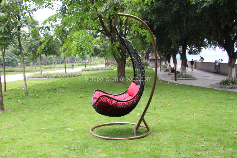 handmade chair with natural rattan and bamboo China factory maple leaf shape eco-friend swing chair hanging chair