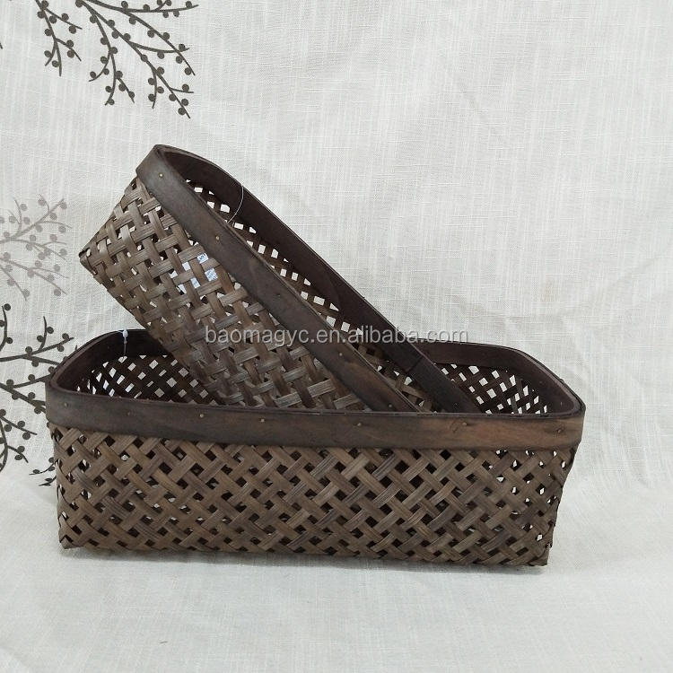 Hot Sales New product weaving bamboo storage baskets bread basket