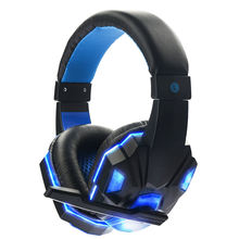 USB PC stereo led wireless gaming headset game earphones with microphone, Bluetooth gamer headphones gaming headset