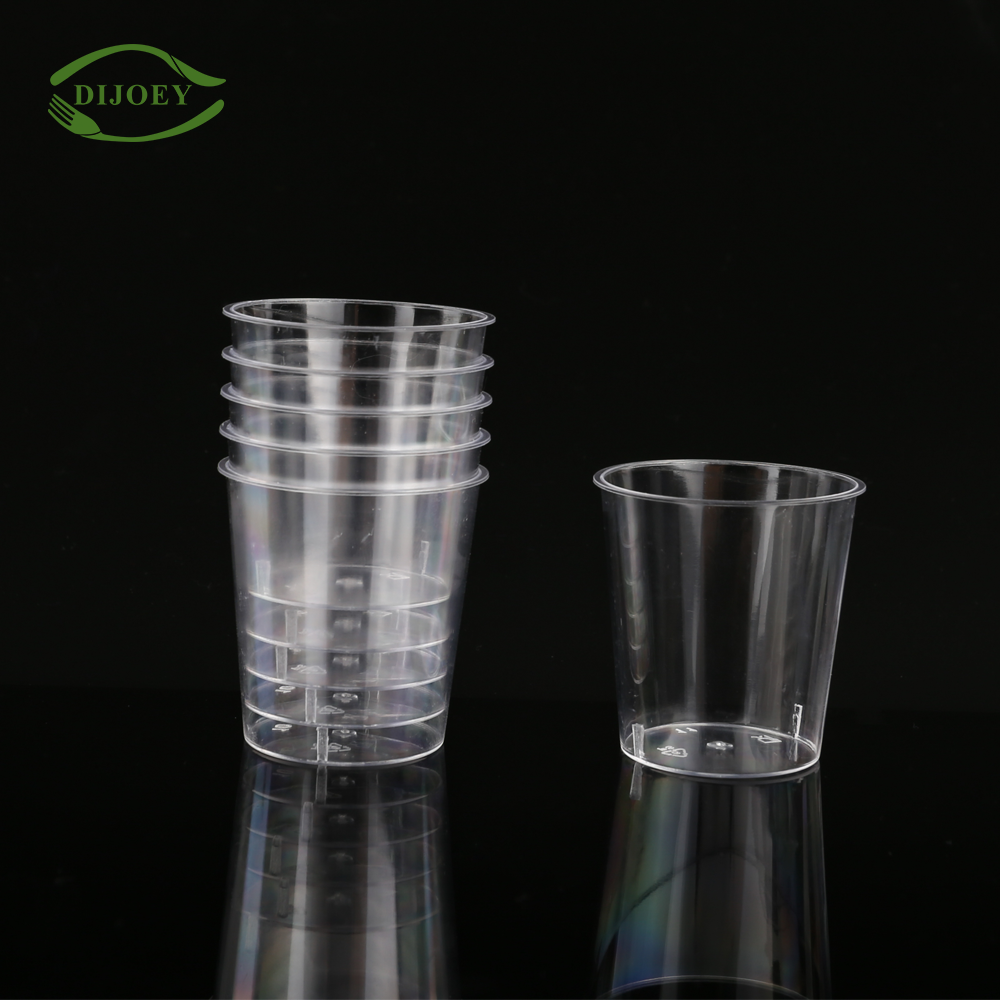 Smart design transparent party round wholesale clear drinking cheap plastic bulk disposable cups