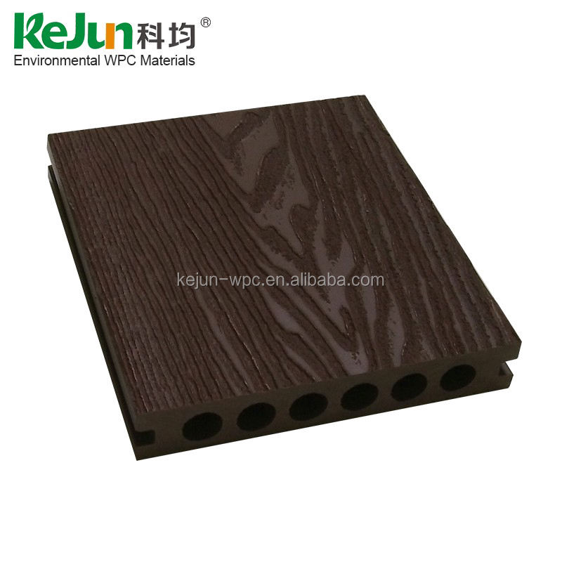 UV-resistant outside wood plastic composite balcony waterproof outdoor floor covering