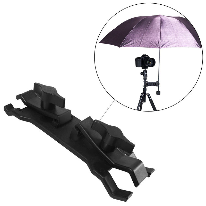 Professionele Universele Outdoor Camera Paraplu Houder Clip Klem voor fotografische Camera Bracket Stand Statief <span class=keywords><strong>DSLR</strong></span> <span class=keywords><strong>Accessoires</strong></span>