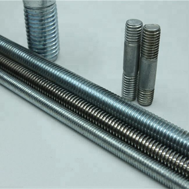 100 x Threaded Pieces DIN976A M8 x 70 Iron Glossy Galvanised
