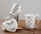 2020 hot selling 12OZ new bone china mug coffee cup with lid and spoon