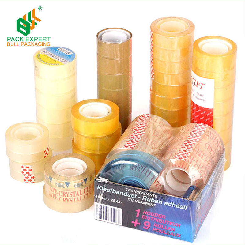 15mm yellowish stationery tape crystal clear bopp adhesive tape sello packaging tape