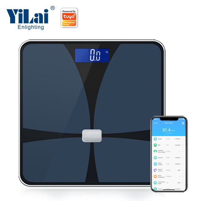 180kg electronic body fat mass digital bathroom smart wifi platform height weight measuring scales balance