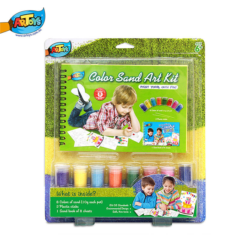 Customized Colorful Painting Sand Art Kits For Kids
