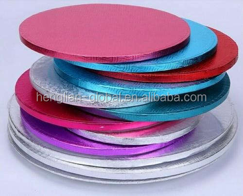 Custom round different sizes and thickness cake board