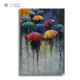 Timber decoration color changing umbrella hot 3d wall hanging decor picture as gift