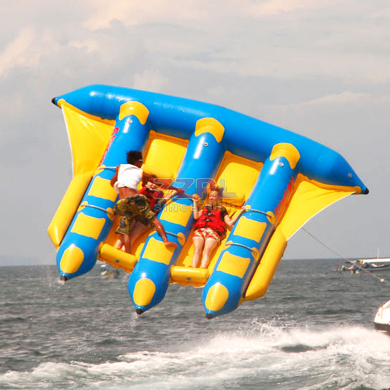ZZPL 3 tubes Water sports toys inflatable flying manta ray / fish / towables/Banana Boat for sale