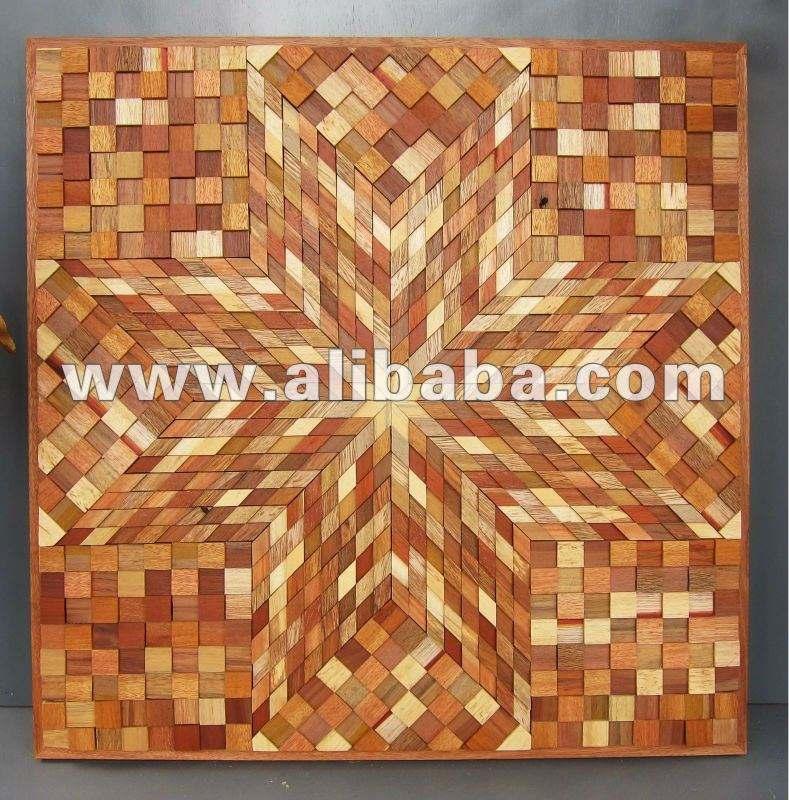 Waste Wood Wall Art Mosaics