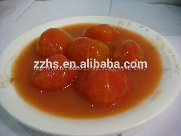 Conserve pelées tomate conservation de la nourriture instantanée végétarien