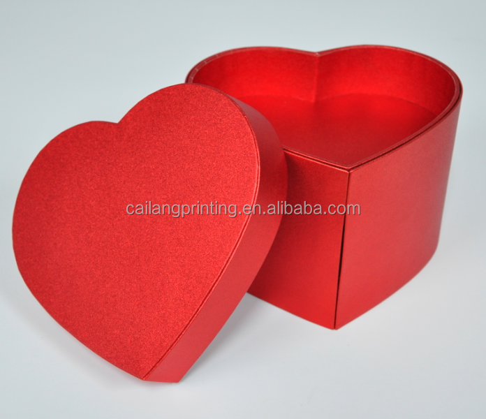 Hotsales Heart shape wedding favour flower gift cardboard boxes for flowers manufacturing in Huizhou