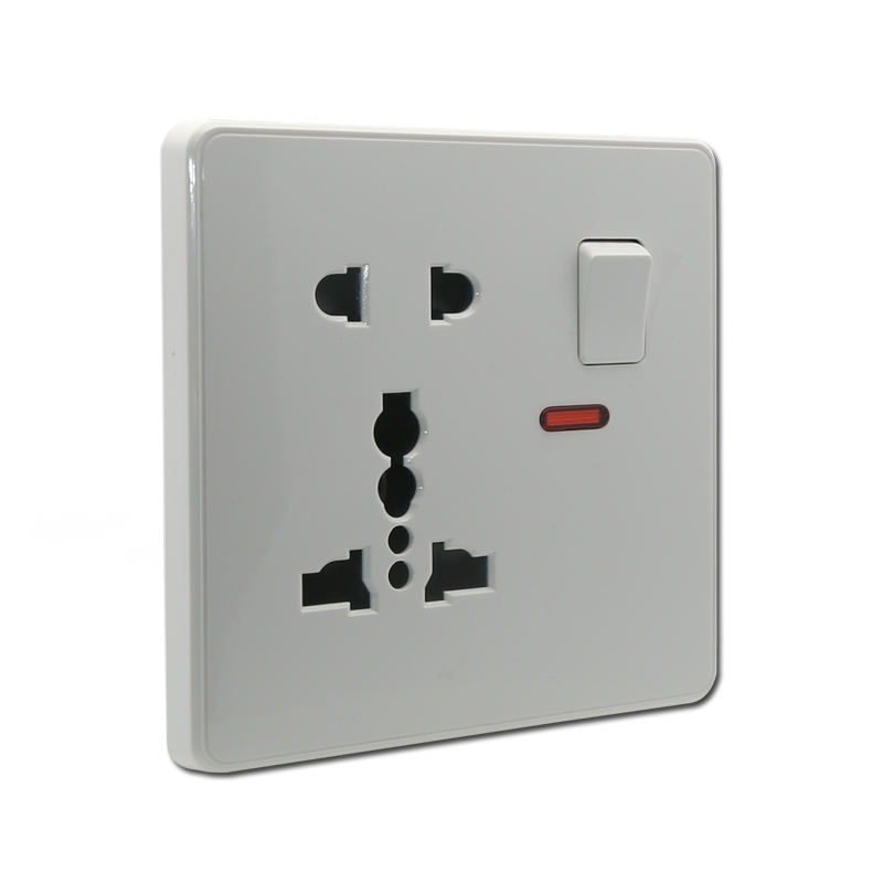 5 pin multi-function socket with switch and neon wall switch socket