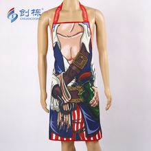 Free sample Chuangdong wholesales factory custom logo sexy kitchen apron dress