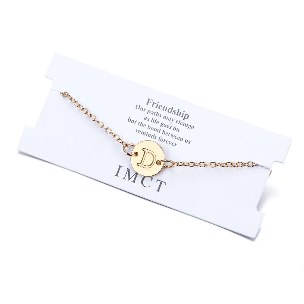 2019 Handmade Bohemian Beach Foot Jewelry Gold letter Chain Anklet Bracelet